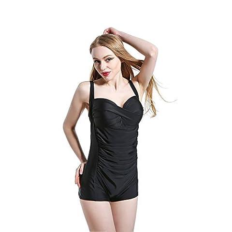 Sport Tent-Vintage élégant couleur Calvin Klein pièce maillots de bain , black , xxl