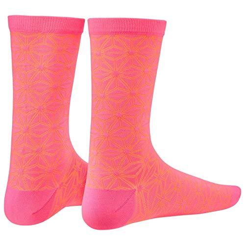 Supacaz Socken Asanoha - Neon Pink und Neon Orange - L/XL