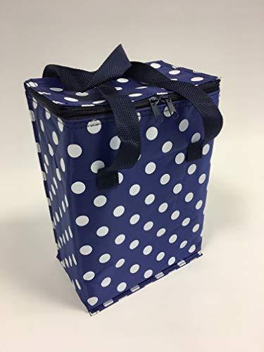 12 bleu peut pois déjeuner Cool sac isotherme pique-nique bleu sac bleu Spot C9 boutonneuses