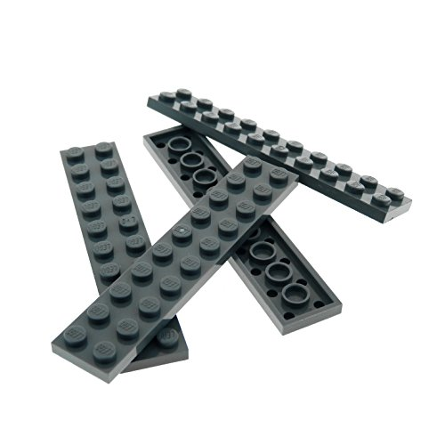 4 x Lego System Leiste Basic Bau Platte 2x10 Stein neu-dunkel grau 2 x 10 für Set Star Wars 75054 9494 7573 76038 60052 8017 75093 10181 10242 3832