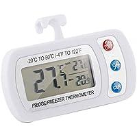 Mengonee Digital Colgando Frigorífico Congelador termómetro impermeable habitación Medidor de la temperatura del LCD -20 ℃ 50 ℃ Medición