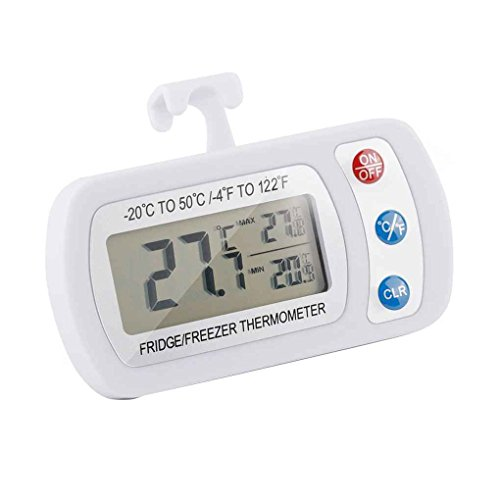 Cdrox - Nevera Digital portátil con termómetro, Impermeable, para congelador, con Pantalla...