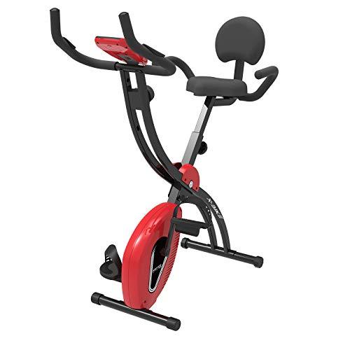 Murtisol F-Bike Entraîneur de vélo Pliable avec Grand siège, Support de téléphone Portable, capteurs cardiaques