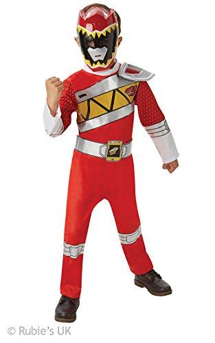 Rojo-de-lujo-del-guardabosques-Dino-carga-de-energa-Ranger-Childrens-Disfraz