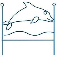 Preisvergleich für dfierro ai-509.090Delfin–Kopfteil aus Schmiedeeisen, 90cm, weiß