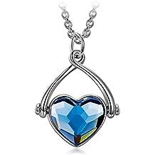 """J.NINA """"Swing de amor"""" Collar Mujer fabricados con cristales SWAROVSKI®. Joyería del Corazón de Las Mujeres, Regalos del Día de Madres"""