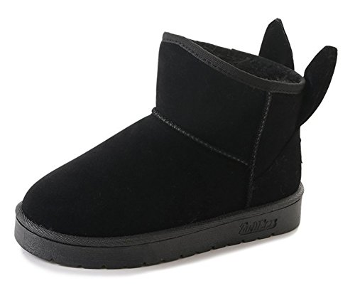 Bottines Mignon Plates Hiver Noir Fzww1q4q Low Boots Aisun Femme ZI14x4w5qU