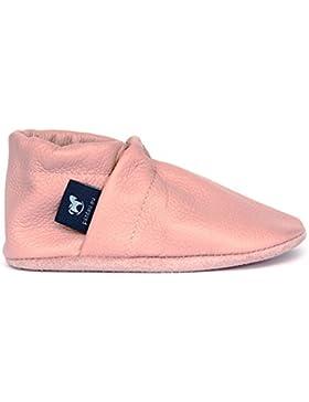 [Gesponsert]pantau.eu Kinder Lederpuschen Krabbelschuhe Babyschuhe Lauflernschuhe Unifarben