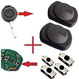 Für Smart 454 / Mitshubishi Funkschlüssel Schlüssel 2x Tastenfeld Gummi + 4x Mikroschalter SMD Taster