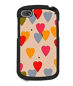 printtech Love Heart Pattern Back Case Cover for BlackBerry Q10