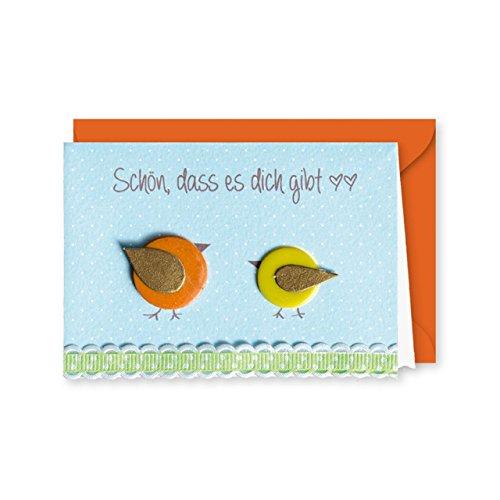 Knopfkarte 50 - Schön, dass es dich gibt - Freundeskarte - Mini-Karte