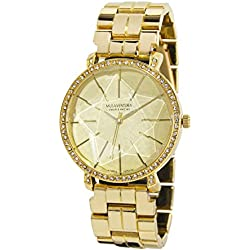 Ladies Watch with Star in the Field and Cris Swarovski Gold Plated