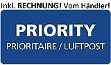 10 Rollen! PRIORITY- LUFTPOST STICKER ROLLEN - PRIORITAIRE - PAR AVION NEU - 250 STICKER JE ROLLE!
