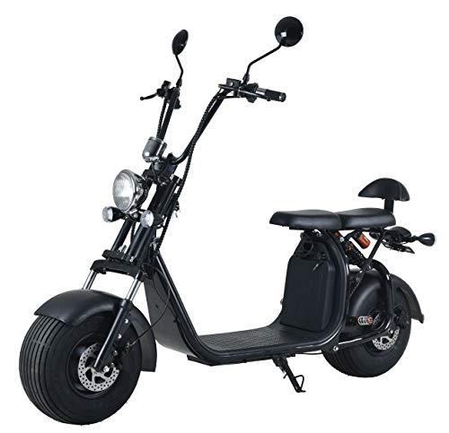 Elektroroller mit Straßenzulassung Chopper X7, E-Scooter E-Roller 45 km/h Straßenzulassung