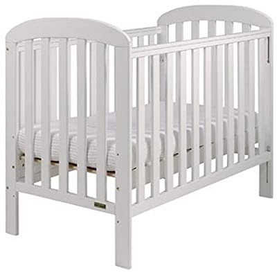 East Coast Anna Dropside Cot (White) Vladon