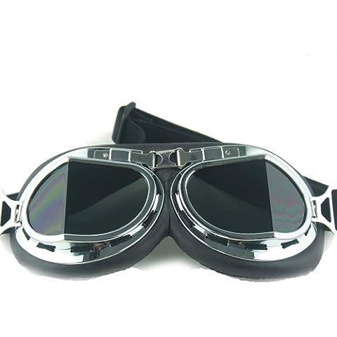 Llevar THG 1x bici de la motocicleta que compite con cascos gafas de ojos ¨¢ngulo Gafas Espejo Lente Marr¨®n Oscuro