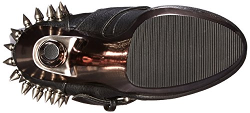 PleaserMuerto 2028 - Stivali donna Nero (Black (Blk Vegan Leather/Pewter Chrome))