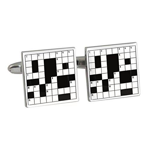 Kreuzworträtsel Design Manschettenknöpfe