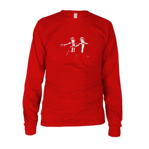 Time Fiction - Herren Langarm T-Shirt, Größe: XXL, Farbe: rot (Tardis Kostüm Hoodie)