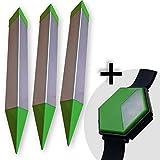ISOTRONIC Maulwurf Vertreiber batteriebetrieben mit ON/OFF - Schalter, Ultraschall Schädlingsbekämpfung gegen Wühlmäuse & Schlangen   3er -Set lus Mückenschutz Armband
