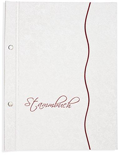 ilie -Lante-, Glanzmaterial, weiss, Zierstreifen, Familienstammbuch, Stammbücher, Din A4 (Heiratsurkunde)