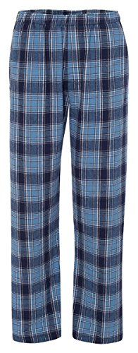 Boxercraft Adult Classic Flannel Boxers Columbia/Navy