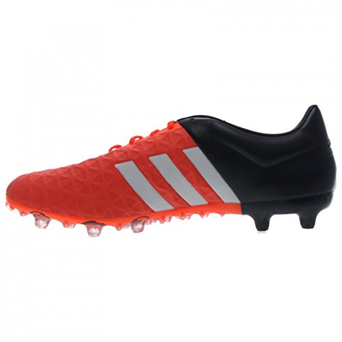 Adidas Performance Ace 15,2 Fg / ag FuÃ?ballschuh, schwarz / metallic silber / weiÃ?, 6,5 M Us White/Black/Solar Orange