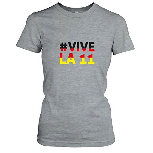 TEXLAB - Deutschland Vive La 11 - Damen T-Shirt Graumeliert