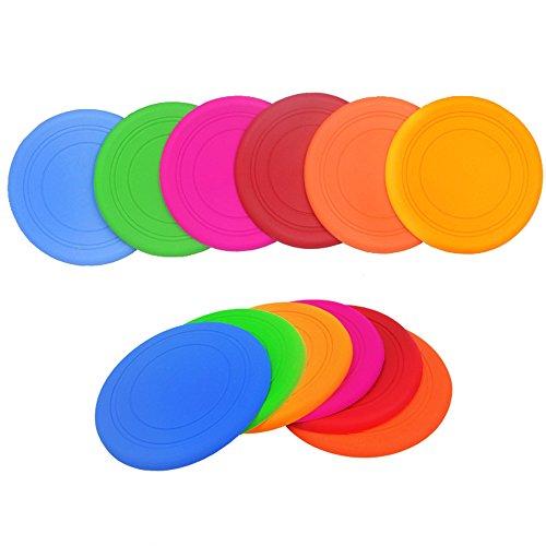 Ecloud Shop 2pcs Pet Frisbee perro de juguete Frisbee suave Pet Training Dog Training Frisbee Table Pad (color al azar)