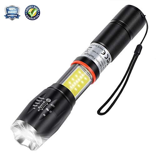LED Fackel Taktische Taschenlampe Laterne 2 in 1 mit magnetischer Unterseite LED-Taschenlampe Pro Taschenlampe Ultra Hell High Lumen mit 5 Modi