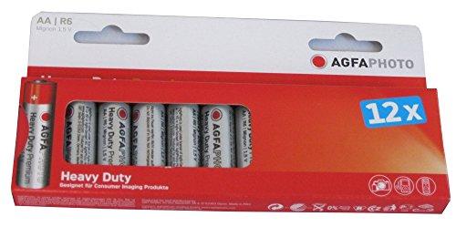 Agfaphoto Premium Pack de 12 Piles Zinc universel LR6/AA 460 mAh