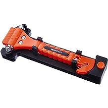 AmazonBasics - Cortador de cinturón de seguridad y martillo rompecristales de emergencia