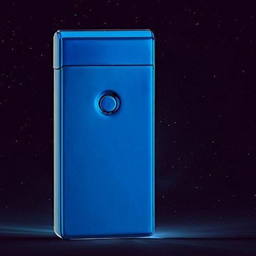 *UEETEK Elektrische Akku leichter Dual Arc flammenlose USB winddicht Zigarettenanzünder (blau)*