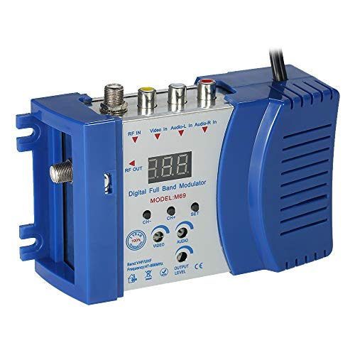 Auto RF Modulator Compact RF Modulator Audio Video TV Konverter RHF UHF Signalverstärker AC230V Rf Modulator-audio