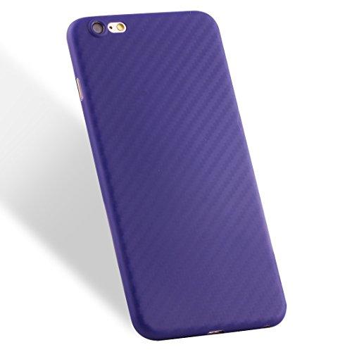 Phone case & Hülle Für iPhone 6 / 6s, Carbon Fiber Texture PP Schutzmaßnahmen zurück Fall Fall ( Color : Red ) Dark blue