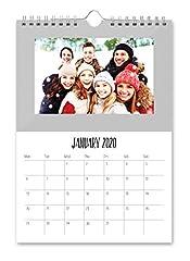 Idea Regalo - Shot2go Calendario fotografico del 2020, da appendere, colore argentato, con 12 foto da 10 x 15 cm