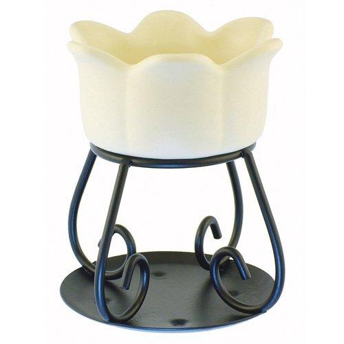 YANKEE CANDLE Lámpara de Aroma, Cerámica, Crema, 11.8x10.8x15.9 cm