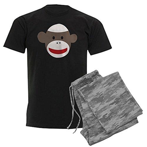 CafePress-Sock Monkey Face-Unisex Neuheit Baumwolle Pyjama Set, bequemen PJ Nachtwäsche Gr. Small, with Grey Camo Pant (Sock Monkey Pants)