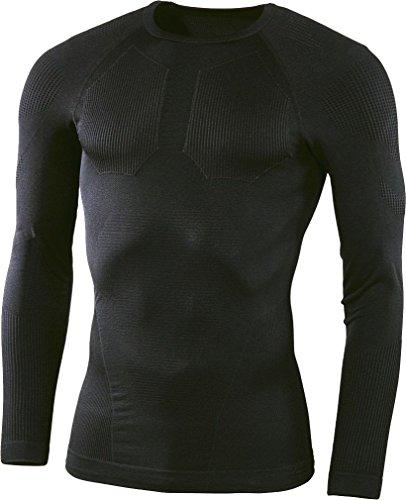 Preisvergleich Produktbild CRIVIT® Herren Motorsport-Funktionsshirt, Baselayer, langarm (schwarz/grau, Gr. XXL - 60/62)