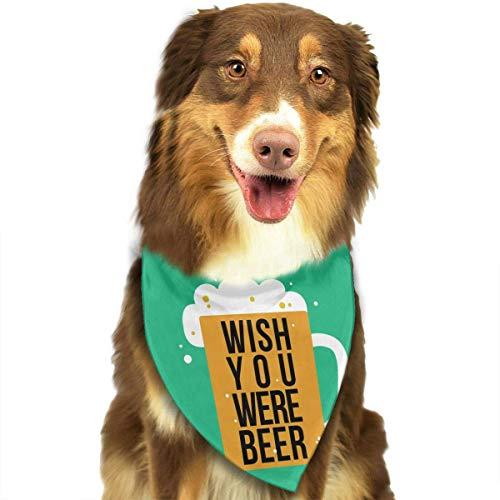 r Schal Wunsch Bier Classic Pet Bandana Haustier Halsbänder für Hund Katze eine Größe ()