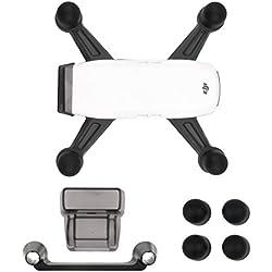 WRCIBO DJI SPARK Drone 3 en 1 Accesorios Kits, Dispositivo de aterrizaje Motor Protectora Covers, Parasol de la caperuza con cubierta de silicona, Soporte para joystick remoto