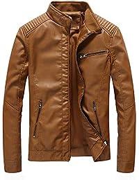 Blouson Homme Chaud Épais Vintage Veste Manche Longue Faux Cuir Manteau  Casual Fashion Automne Hiver BaZhaHei 2322e8a40534