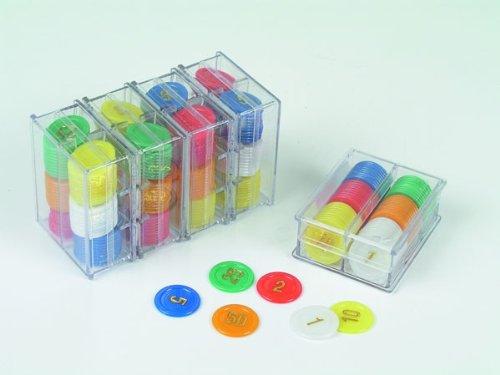 Weiblespiele 320942 - Spiel und Roulettechips mit Wertaufdruck, 240 Stück