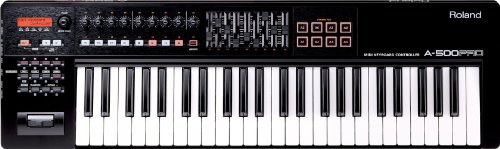 Roland A-500PRO 49keys USB Black MIDI keyboard - MIDI keyboards (49 keys, Buttons, Rotary, USB, 838.9 mm, 250.8 mm, 91.4 mm)