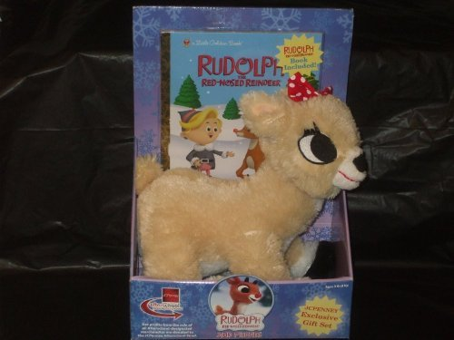 new-rudolph-red-nosed-reindeer-clarice-plush-with-golden-book-by-jcpenney