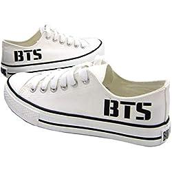 AILIENT Unisex BTS Zapatos Classic Suede/Canvas Zapatillas Adulto Zapatillas Deportivas de Malla Ligera para Mujeres y Hombres Zapatillas Transpirables