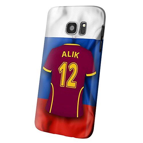 PhotoFancy – Samsung Galaxy S7 Handyhülle Premium – Personalisierte Hülle mit Namen Alik – Case mit Design Fußball-Trikot Russland EM 2016