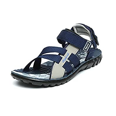 Lee Cooper Men's Blue and Grey Sandals & Floaters (11 UK/India(45EU), Blue/Grey)