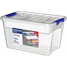 Sistema Storage Contenitore, Polipropilene, con Vassoio, Plastica, Trasparente, 3.5 Litri