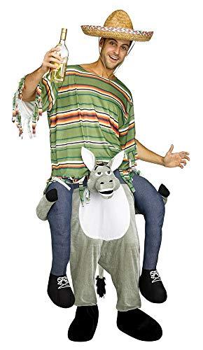 shoperama Lustiges Step-In Huckepack Kostüm Piggy Back Aufsitz Reiter Trag Mich JGA Junggesellenabschied, - Lustige Esel Kostüm